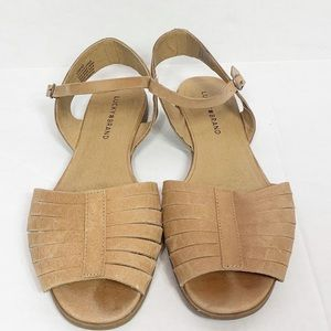 Lucky Brand Shoes - Lucky Brand Brown Leather Sandals Ankle Strap